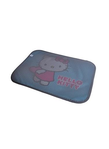 Hello Kitty HELLO KITTY ÇİFT KATMANLI KEDİ KUMU PASPASI DİKDÖRTGEN 01 Gri